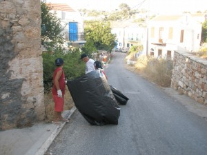 Let's get going with the rubbish collection